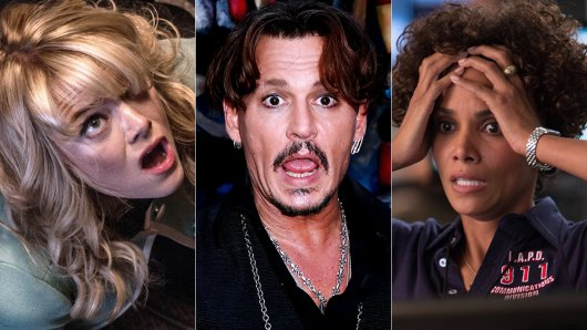 Wenn die Panik zu groß wird, können auch Hollywoodstars nicht mehr arbeiten. Schauspieler wie Emma Stone, Johnny Depp und Halle Berry (v.l.) leiden unter plötzlichen Angsattacken.