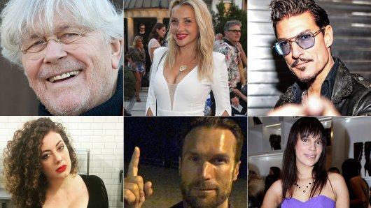 Auf dem Weg nach Australien? Tommi Piper, Evelyn Burdecki, Christian Töpperwien (v.l.o.), Leila Lowfire , Bastian Yotta, Gisele Oppermann (v.l.u.)