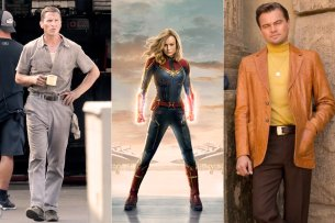 "Drei der  Kino-Knaller 2019: ""Ford v. Ferrari"" mit Christian Bale (Start: 27. Juni), Brie Larson als ""Captain Marvel"" (Start: 7. März) und Brad Pitt in ""Once Upon a Time in Hollywood"" (Start: 8. August)."