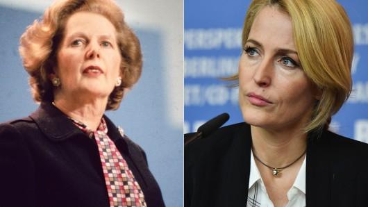 Gillian Anderson spielt Margaret Thatcher.