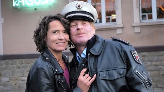 Ulrike Folkerts (57) und Ben Becker (54) beim Drehstart zum Tatort -  Die Pfalz von oben.