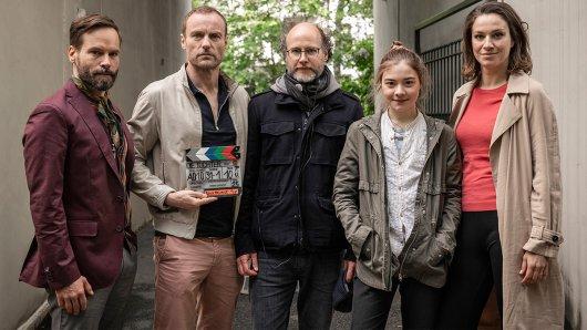 v.l.n.r.: Wanja Mues (Felix), Mark Waschke (Oliver), Stefan Krohmer (Regie), Hanna Schiller (Alma) und Franziska Hartmann (Franziska)