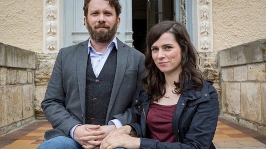 Christian Ulmen und Nora Tschirner drehen im Juni 2019 ihren zehnten Tatort in Weimar.