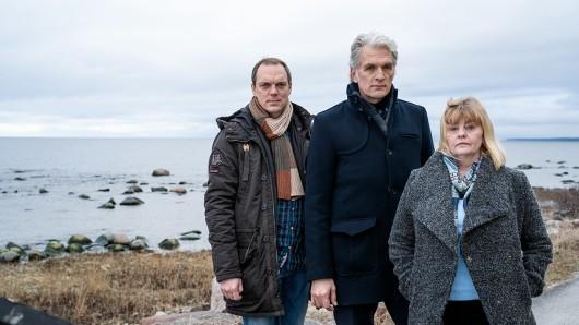Das Ermittlerteam von Der Kommissar und das Meer: Thomas (Andy Gätjen), Robert (Walter Sittler) und Ewa (Inger Nilsson).