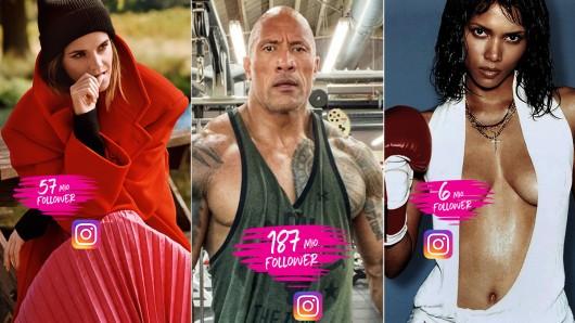 Emma Watson, Dwayne The Rock Johnson und Halle Berry sind nur drei von 13 Superstars, die sich auf Instagram präsentieren.