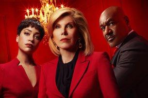"""Wer ist in """"The Good Fight""""- Staffel 4 der Boss? Lucca (Cush Jumbo), Diane (Christine Baranski, M.) und Adrian (Delroy Lindo)."""