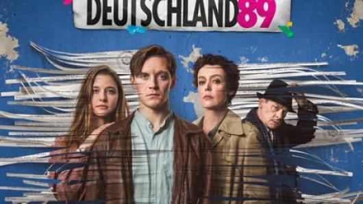 Deutschland89 - Die Mauer fällt! mit Svenja Jun, Jonas Nay, Maria Schrader und Sylvester Groth (v.l.).