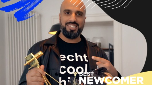 Abdelkarim ist Best Newcomer beim YouTube GOLDENE KAMERA Digital Award 2020.