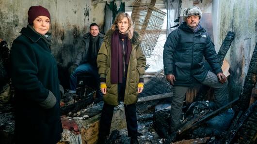 v.l.n.r.: Katrin Sass, Till Firit, Rikke Lylloff, Andreas Herzog (Regie).
