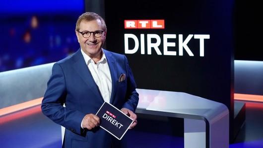 In der Premierensendung begrüßt Jan Hofer die Kanzlerkandidatin von Bündnis 90/Die Grünen, Annalena Baerbock.