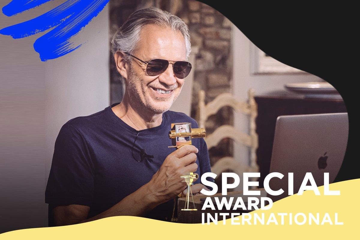 Weltstar Andrea Bocelli erhielt den Special Award International.