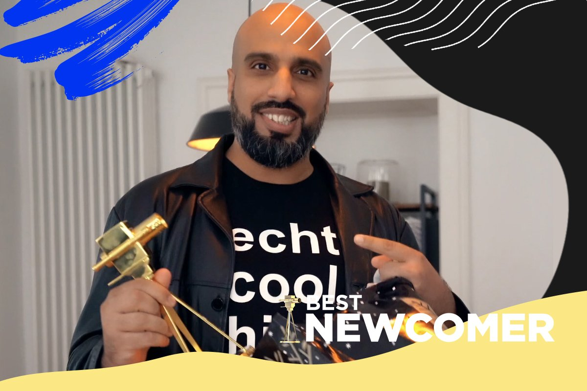 "Abdelkarim ist ""Best Newcomer"" beim YouTube GOLDENE KAMERA Digital Award 2020."