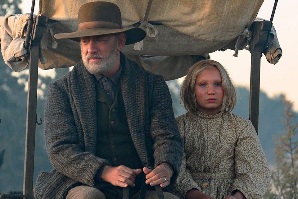 "Altstar Tom Hanks mit Newcomerin Helena Zengel in ""Neues aus der Welt"""