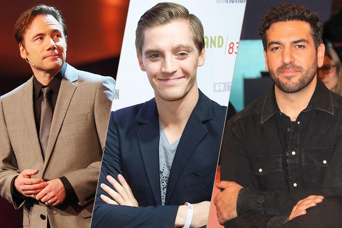 Regisseur Michael Bully Herbig (l) sowie die Hauptdarsteller Jonas Nay (M.) und Elyas M'Barek