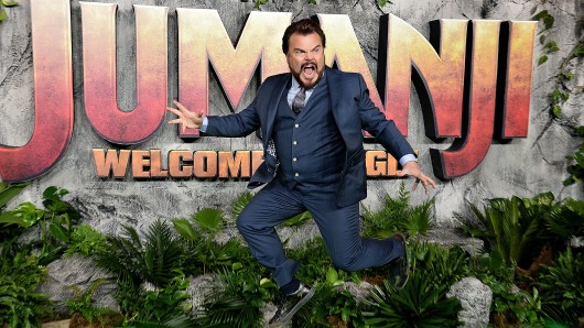 Comedy-Wonneproppen Jack Black (48) auf der London-Premiere von Jumanji: Willkommen im Dschungel.