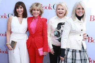 """Die Golden Girls von Hollywood (v.l.n.r.): Mary Steenburgen (65), Jane Fonda (80), Candice Bergen (72) und Diane Keaton (72) auf der US-Premiere ihres neuen Films """"Book Club - Das Beste kommt noch"""""""