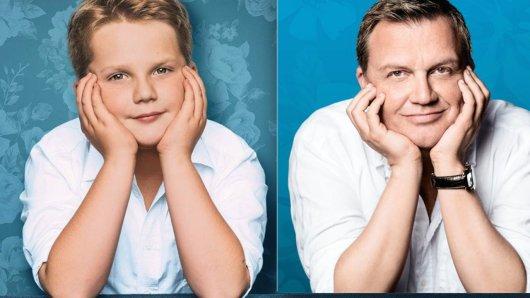 Der Starkomiker und sein Kinderdarsteller: Hape Kerkeling und Newcomer Julius Weckauf