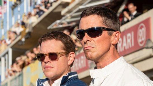Die beiden Hauptdarsteller Matt Damon und Christian Bale in Le Mans 66