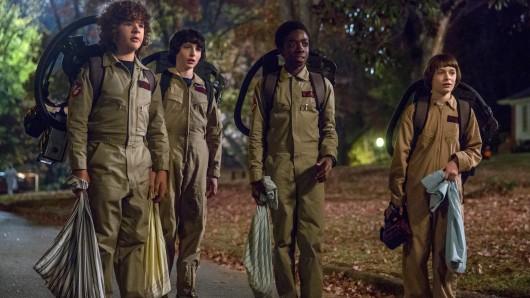 Gaten Matarazzo, Finn Wolfhard, Caleb McLaughlin und Noah Schnapp sind auch bei der 3. Staffel von Stranger Things mit an Bord.