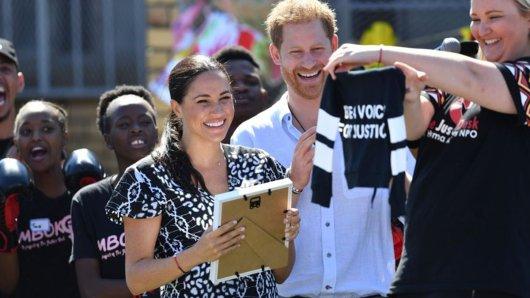 Meghan und Harry auf ihrer Tour durch Südafrika.
