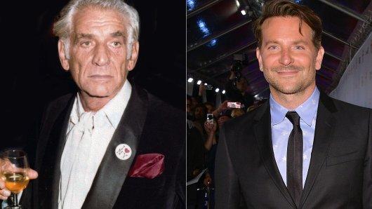 Die gewünschte Ähnlichkeit ist erkennbar: Leonard Bernstein (1988) & Bradley Cooper (2019).
