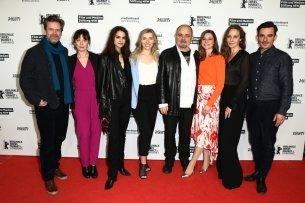 """""""Der Palast"""" Cast auf der Berlinale 2020: Matthias Matschke, Inka Friedrich, Luise Befort, Annabella Zetsch, Uli Edel, Svenja Jung, Jeanette Hain und Hannes Wegener."""