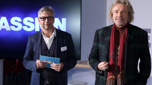 Kai Sturm (Unterhaltungschef RTL) mit Thomas Gottschalk.