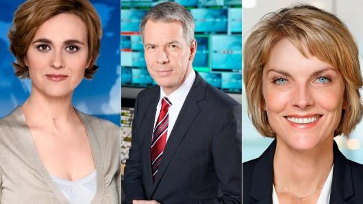 Die Preisträger in der Kategorie Beste Information: Caren Miosga, Peter Kloeppel und Marietta Slomka (v.l.)
