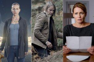 """Petra Schmidt-Schaller (l.), Karoline Eichhorn (M.) und Anja Kling sind die Nominierten für die GOLDENE KAMERA 2018 in der Kategorie """"Beste deutsche Schauspielerin""""."""