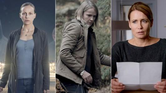 Petra Schmidt-Schaller (l.), Karoline Eichhorn (M.) und Anja Kling sind die Nominierten für die GOLDENE KAMERA 2018 in der Kategorie Beste deutsche Schauspielerin.
