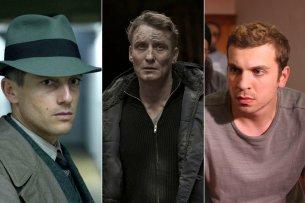 """Volker Bruch (l.), Oliver Masucci (M.) und Edin Hasanovic sind nominiert als """"Beste deutsche Schauspieler""""."""