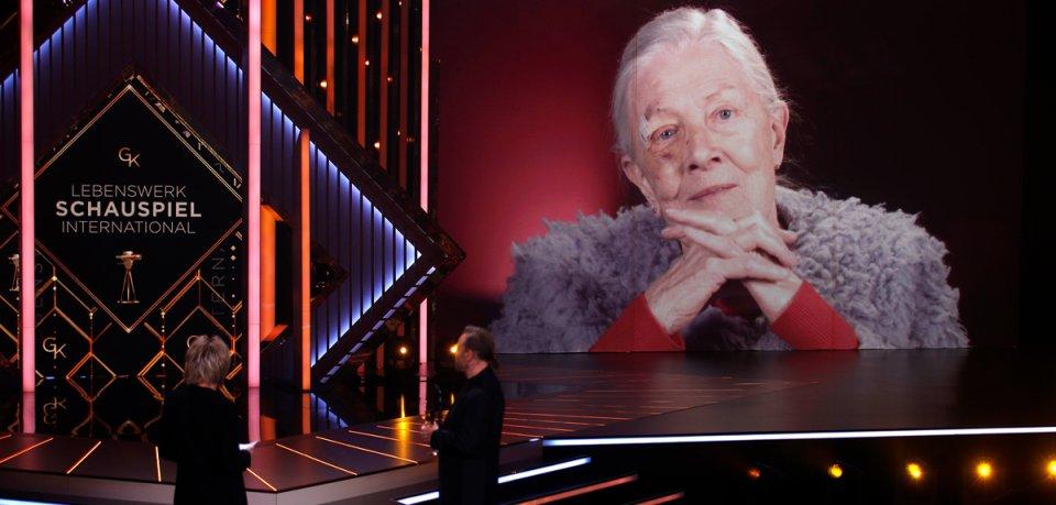 In einer Videobotschaft bedankte sich Vanessa Redgrave für die Auszeichnung.