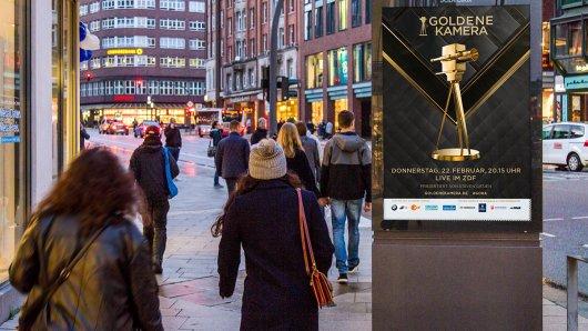 City Light Poster für die GOLDENE KAMERA 2018.