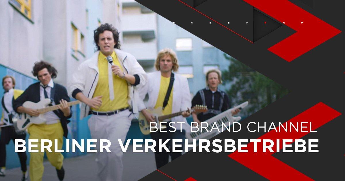 Nominiert als Best Brand Channel: Berliner Verkehrsbetriebe