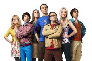 "Die ""Big Bang Theory""-Helden Bernadette (Melissa Rausch, l.), Howard (Simon Helberg), Amy (Mayim Bialik), Sheldon (Jim Parsons), Leonard (Johnny Galecki), Penny (Kaley Cuoco) und Raj (Kunal Nayyar, r.)"