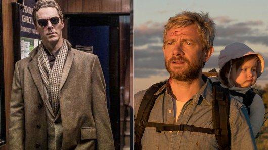 Benedict Cumberbatch (l.) und Kollege Martin Freeman gehen erstml getrennte Wege.