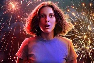 """Millie Bobby Brown in ihrer Paraderolle als Eleven auf dem Teaser-Artwork zur 3. """"Stranger Things""""-Staffel"""
