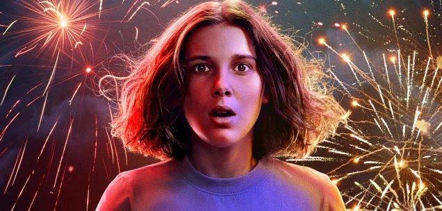 Millie Bobby Brown in ihrer Paraderolle als Eleven auf dem Teaser-Artwork zur 3. Stranger Things-Staffel