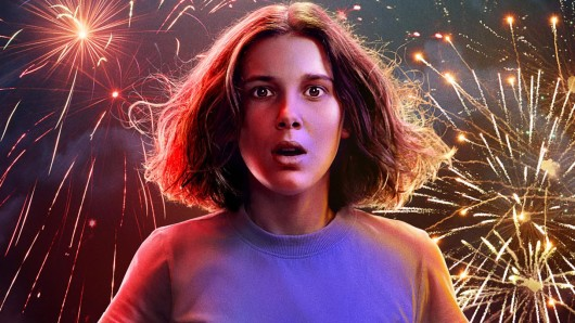 Millie Bobby Brown in ihrer Paraderolle als Eleven auf dem Teaser-Artwork zur 3. Stranger Things-Staffel