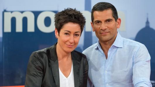 Das ZDF-MoMa-Moderatoren-Duo Dunja Hayali und Mitri Sirin.