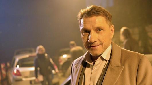 Richy Müller bei den Dreharbeiten zum Tatort: Stau 2016.