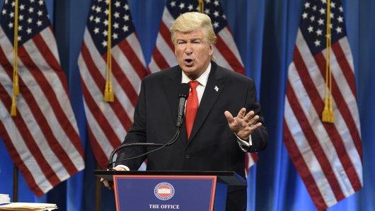 Alec Balwin als Trump-Imitator in Saturday Night Live.