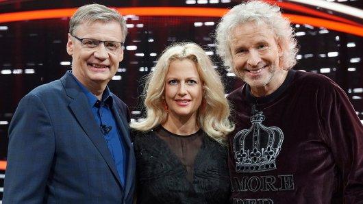 Günther Jauch, Barbara Schöneberger und Thomas Gottschalk (r.) wieder vereint in neuer Show.