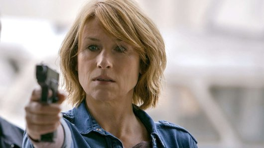 Corinna Harfouch im TV-Thriller Die vermisste Frau (2018).